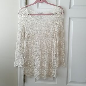 Beautiful long sleeve macrame top
